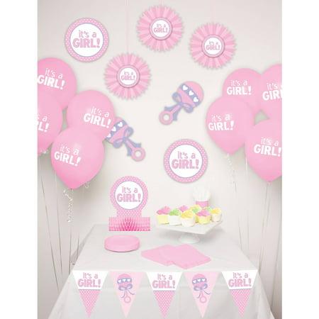 Way to Celebrate Baby Girl Decor Kit