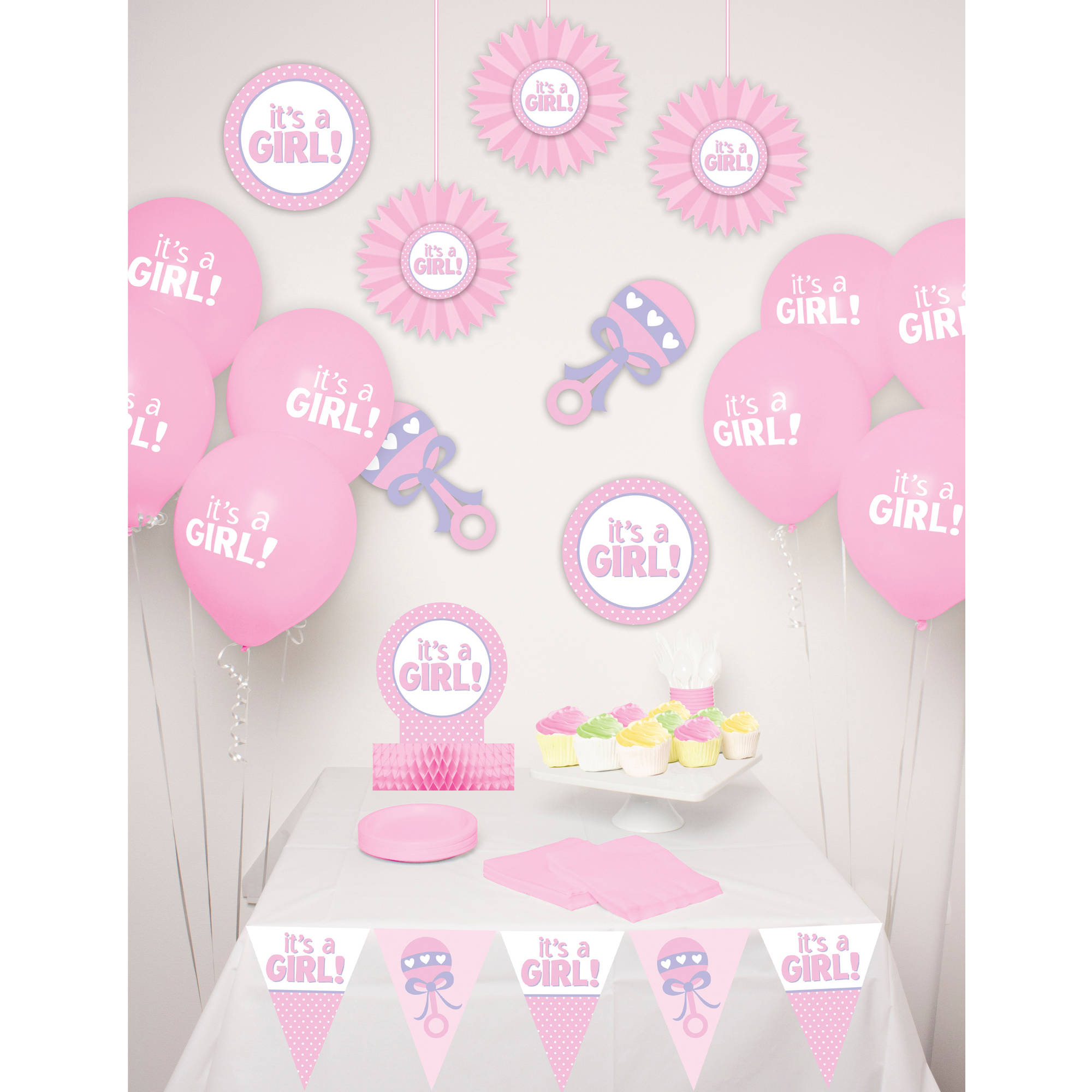Way to Celebrate Baby Girl Decor Kit