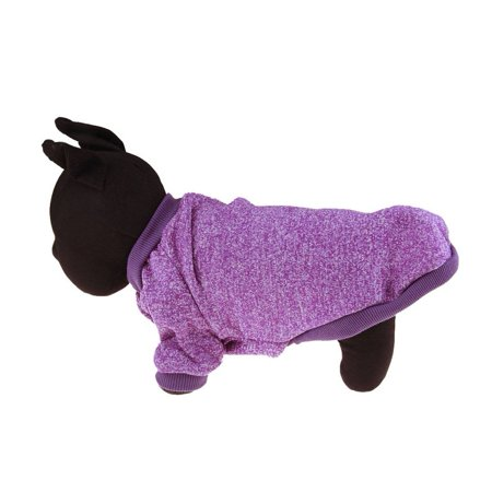 Hot Sale New Pet Winter Casual Sweater Clothing Elastic Costume 2-Feet Sport Hoodies Jacket(Purple)