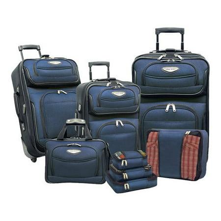 "Traveler's Choice Amsterdam II 8-Piece Luggage Set 9""x6.5""x4""; 11""x7.5""x4""; 13""x10.5""x4""; 15""x12.5""x4""; 15""x11""x6""; 21""x14""x8""; 25""x16""x9""; 29""x18""x10"""