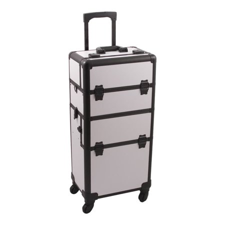 51027ae52960 JUSTCASE Hiker 2-in-1 Rolling Makeup Case with Easy-Slide and ...