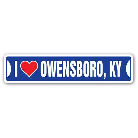 I LOVE OWENSBORO, KENTUCKY Street Decal ky city state us wall road décor gift ()
