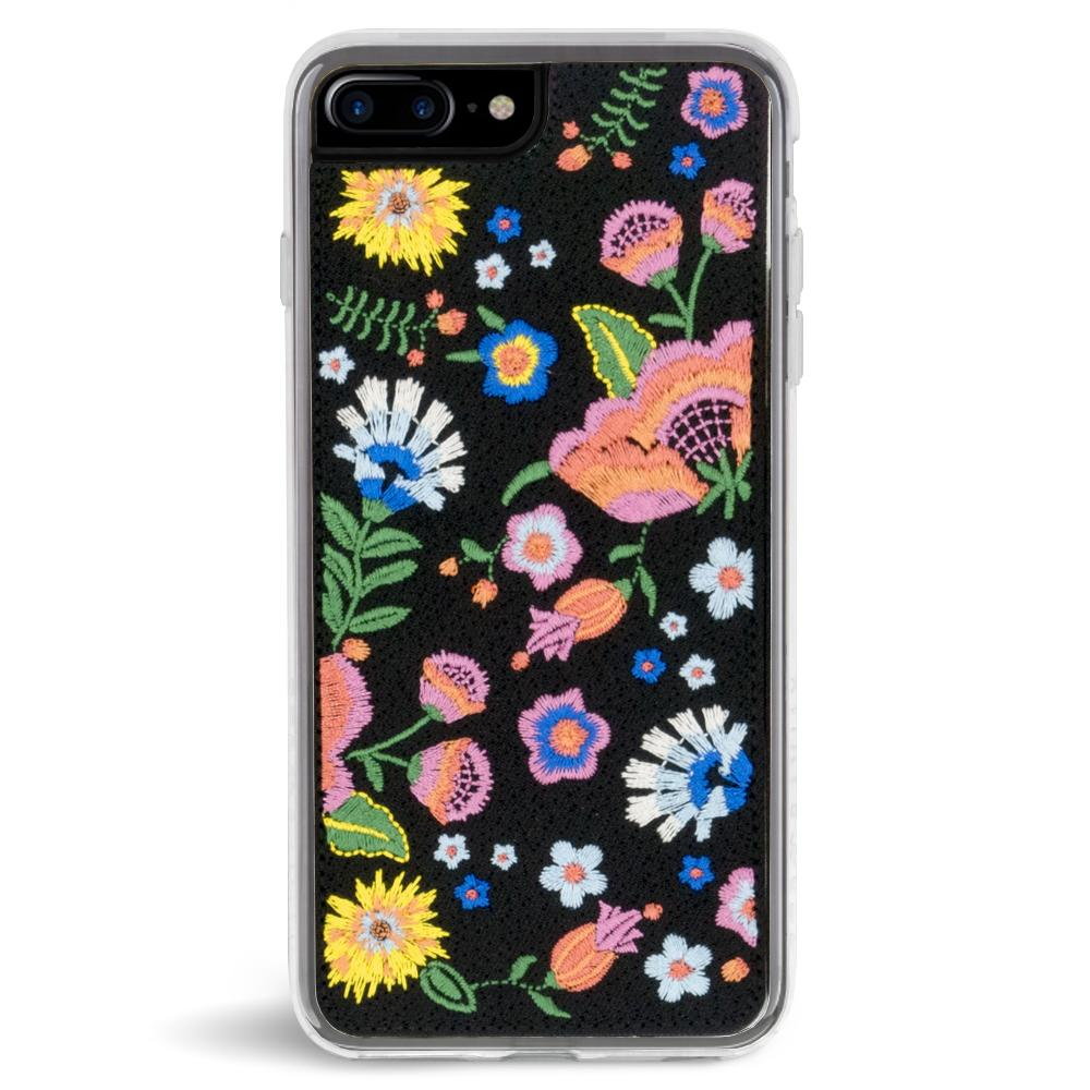 Zero Gravity Apple iPhone 7 Plus / iPhone 8 Plus Marie Case - Embroidered Floral Design - 360° Protection, Drop Test Approved