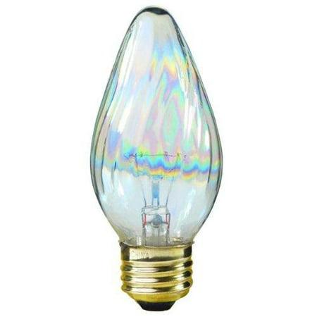 Satco S3369 40-Watt 120V Medium Base F15 Light Bulb, Aurora 1 Pack F15 Medium Base