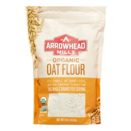 (2 Pack) Arrowhead Mills Organic Oat Flour, 16.0 OZ ()