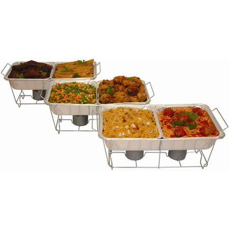 Serve-Rite 24-Piece Buffet Serving Set (Pan Warmers)