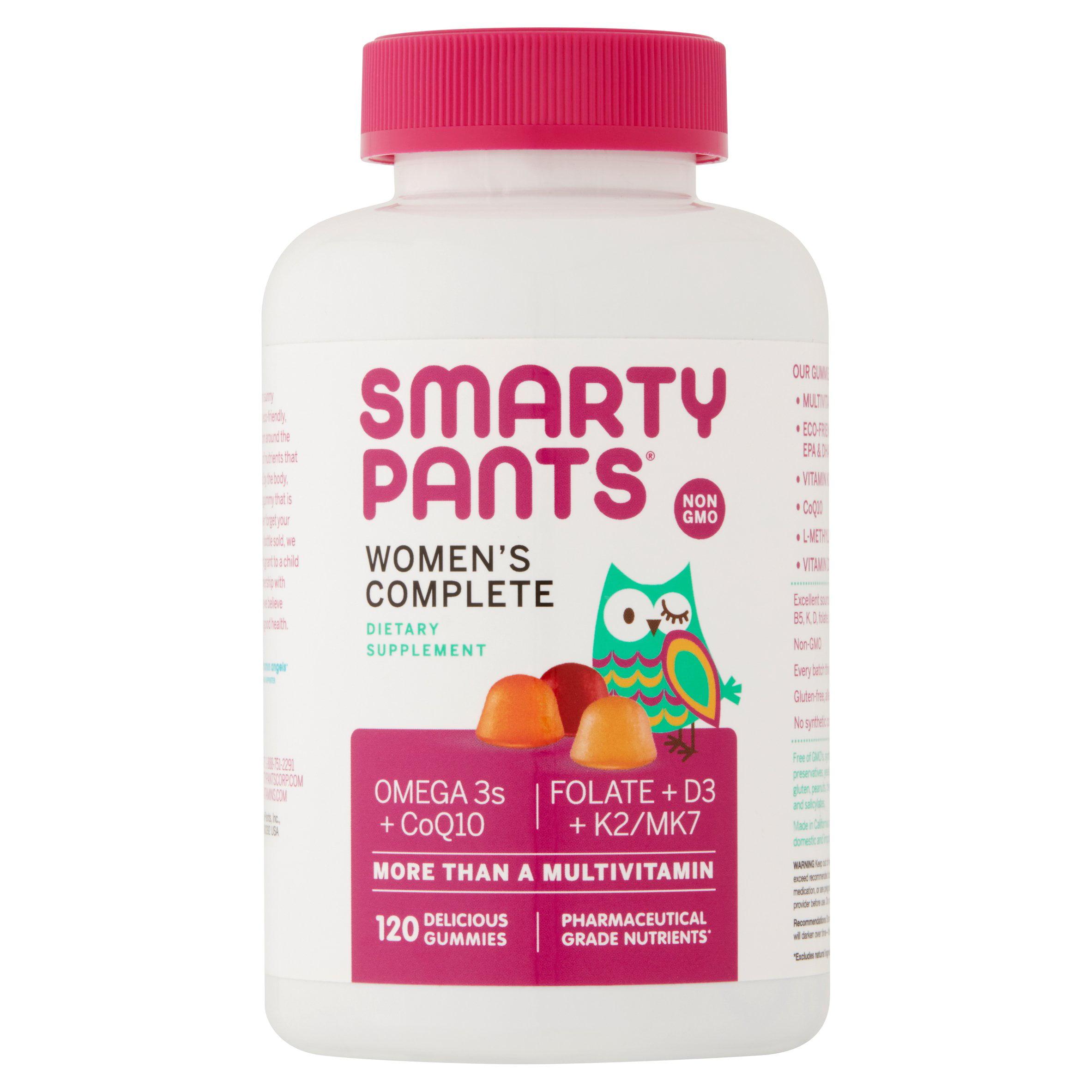 SmartyPants Women's Complete Dietary Supplement Gummies, 120 count