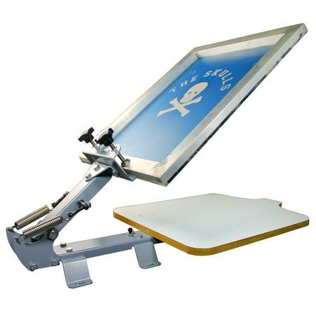 TECHTONGDA 1 Color 1 Station Silk Screen Printing Press Kit Machine T shirt DIY (Silk Screen Press Machine)