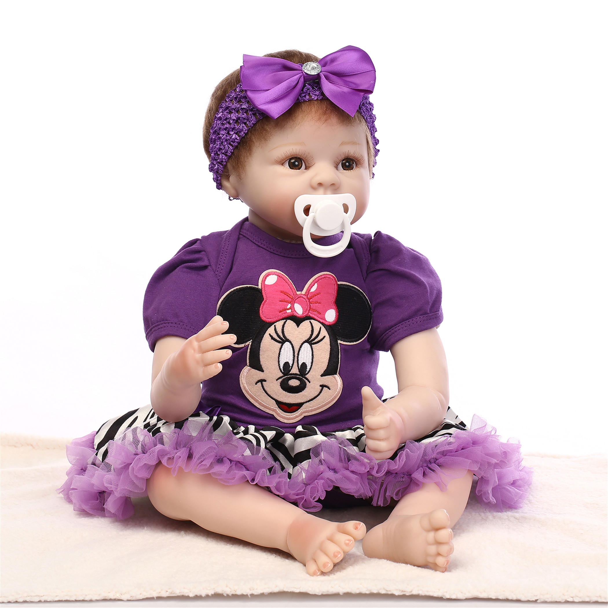 NPK Collection Reborn Baby Doll Soft Silicone vinyl 22inch 55cm Lovely Lifelike Cute Baby Birthday gift Christmas gift