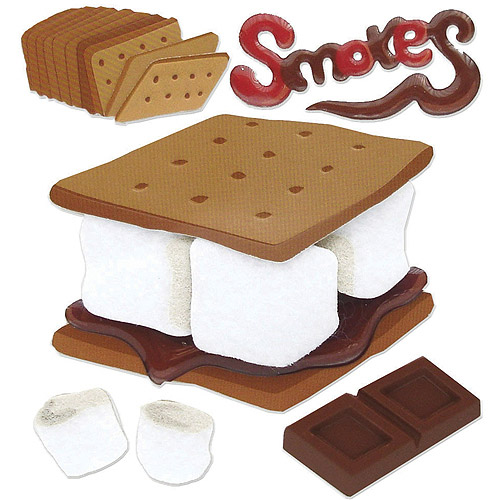 Jolee's Boutique Dimensional Stickers, Smores
