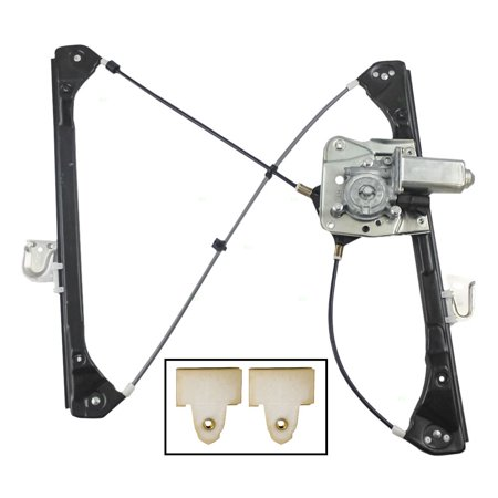 Drivers Front Power Window Regulator with Motor and 2 Window Sash Connectors Replacement for Oldsmobile Pontiac Sedan 22689012