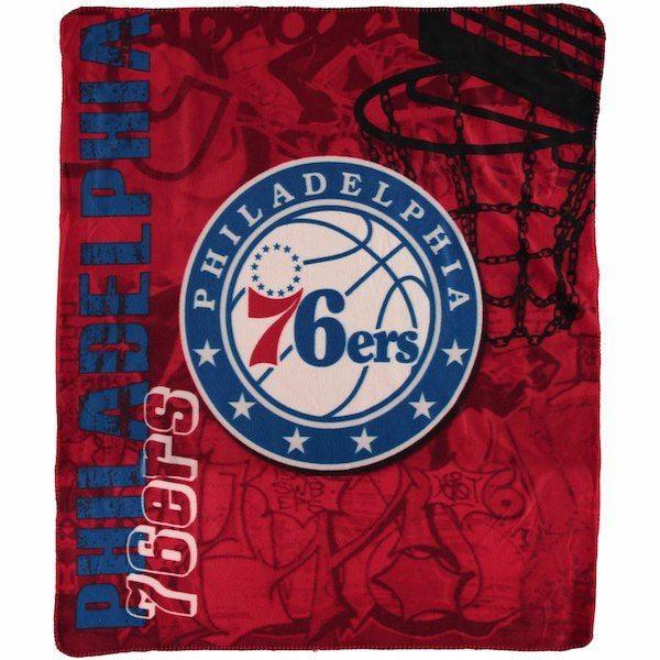 """NBA Philadelphia 76ers 50"""" x 60"""" Fleece"""