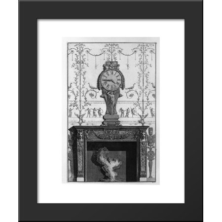 Fireplace Clock (Fireplace: In a garland frieze between two eagles above the plane of a clock)