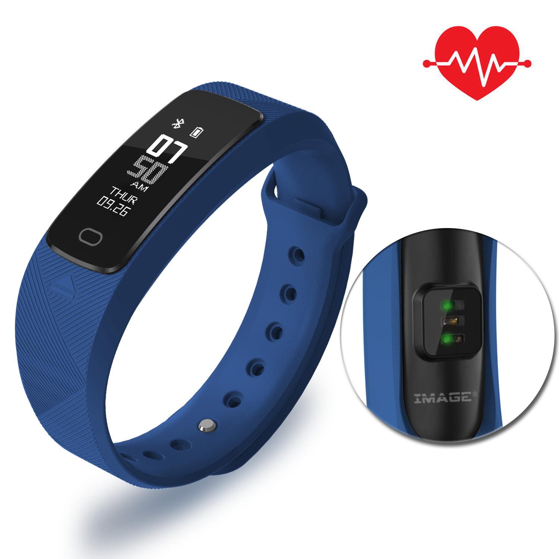 IMAGE Fitness Tracker Heart Rate Sleep Monitor Watch IP68 Waterproof Smart Wristband Calorie Counter Pedometer
