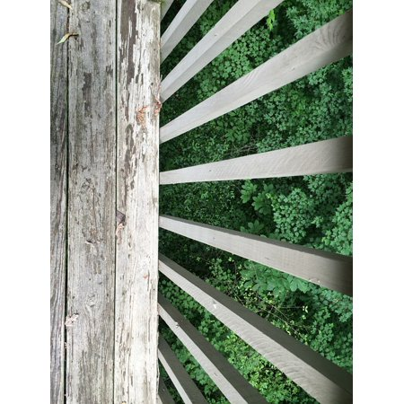 Porch Railing (LAMINATED POSTER Outdoor Deck Porch Wooden View Exterior Railing Poster Print 24 x 36)