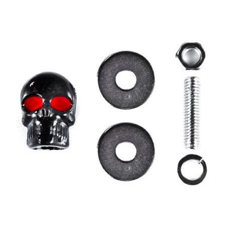 Custom Black Skeleton Skull Bolt Nuts Screws 6mm For Victory Cross Country - image 4 de 6