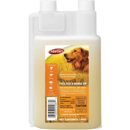 - Flea, Tick and Mange Dip 1 pint, Controls fleas for up to 28 days By Control Solutions