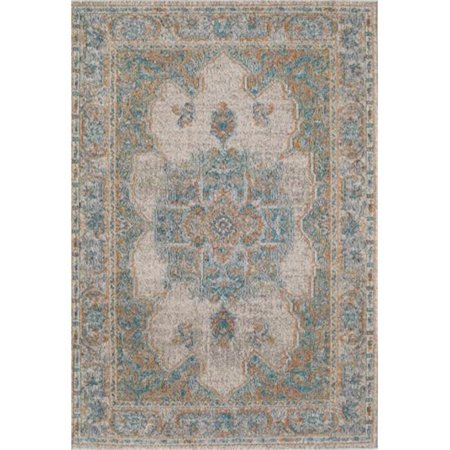 Rugs America 25485 Beverly Ivory Blue Rectangle Oriental Rug, 5 ft. 3 in. x 7 ft. 6 in. - image 1 de 1