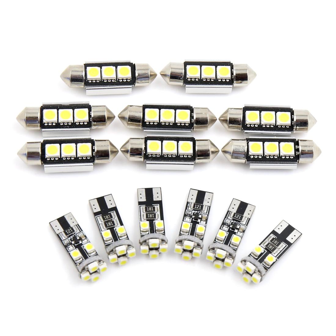 AUDI A6 C7 2012 ERROR FREE WHITE INTERIOR COMPLETE LED BULBS UPGRADE LIGHT SET