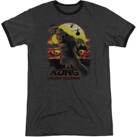 Kong Skull Island Mens  Kong Sunset T Shirt Charcoal