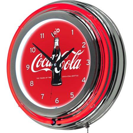Coca-Cola Retro Neon Clock, 100th Anniversary of the Coca-Cola Bottle