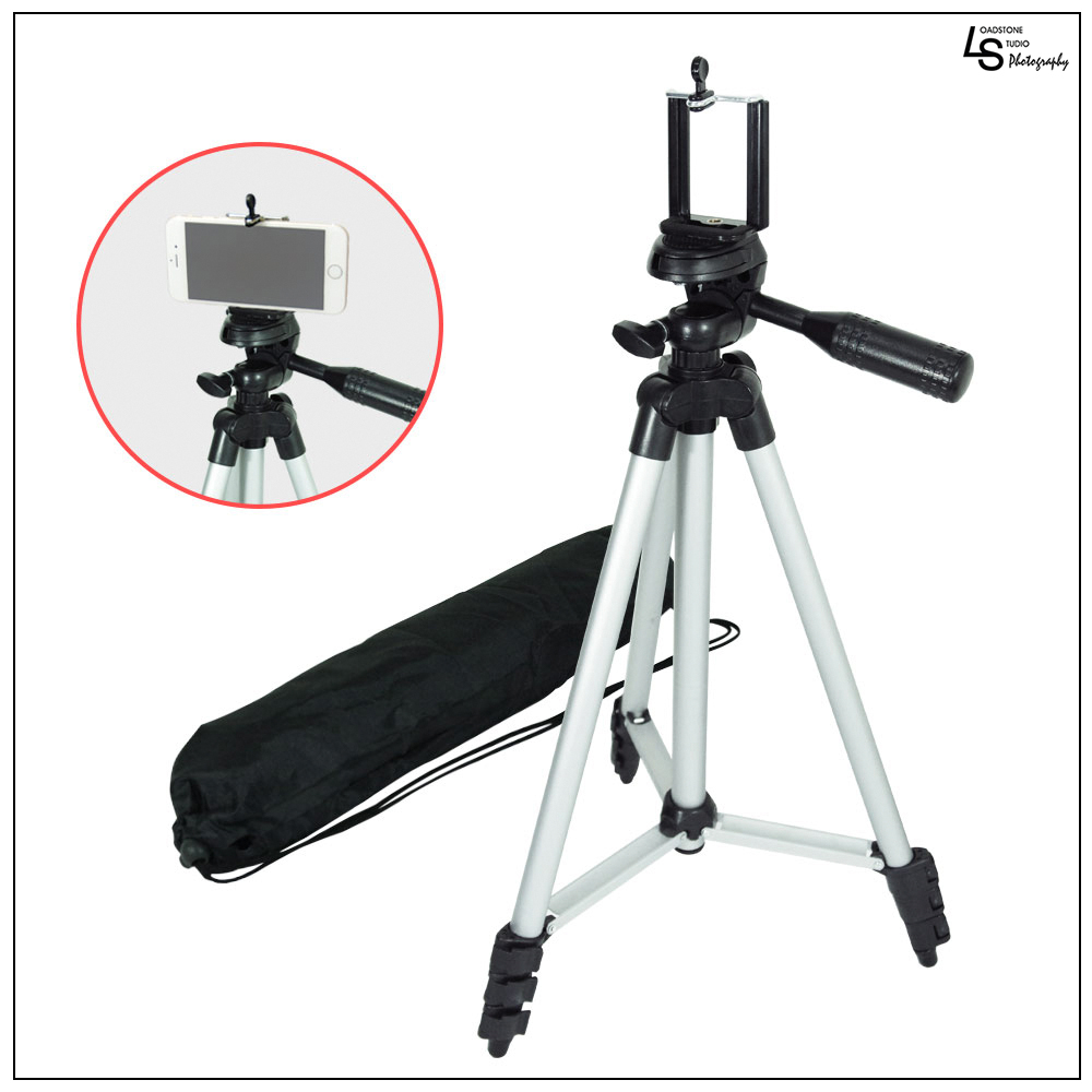 "Loadstone Studio 50"" Lightweight Table Top Travel Tripod Camera Video Stand with Cellphone Holder, WMLS1664"