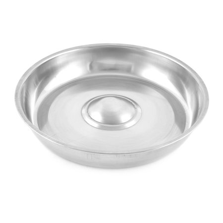 Restaurant Stainless Steel Round Shaped Beef Lid Silver Tone 24cm Diameter - image 1 of 2
