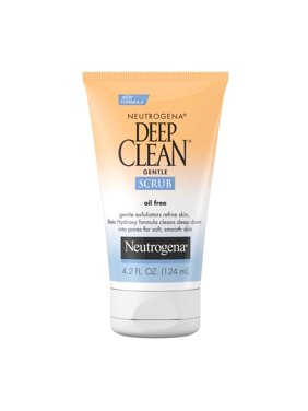 Neutrogena Deep Clean Salicylic Acid Face Scrub, 4.2 fl oz