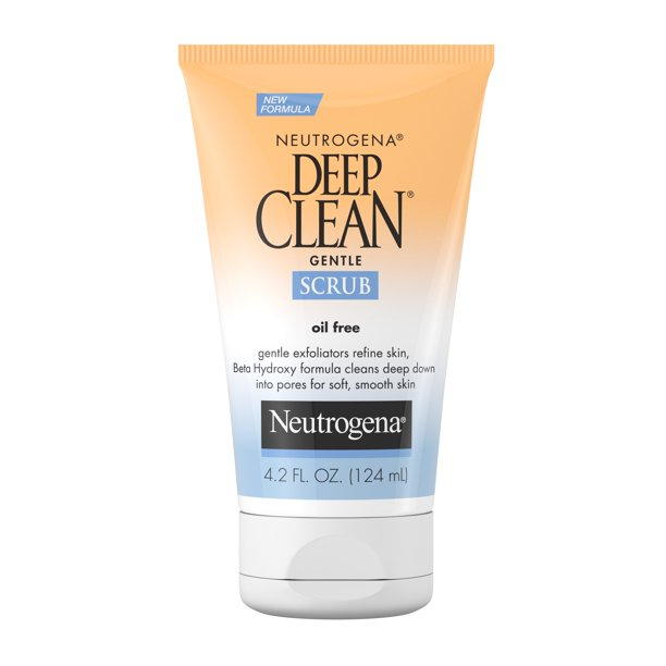 Neutrogena Deep Clean Salicylic Acid Face Scrub 4 2 Fl Oz