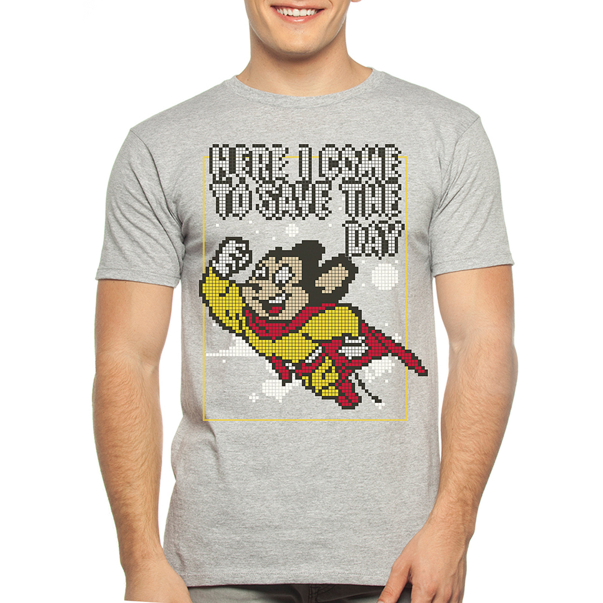 Mighty Mouse Big Men's Graphic Tee