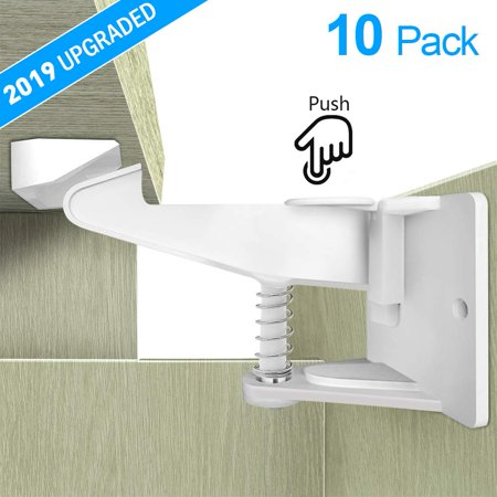 10Pcs Baby Safety Drawer Lock Invisible Child Safety Lock Latches Security Protection ABS Spring Lock