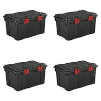 Sterilite 16 Gallon Storage Trunk- Black