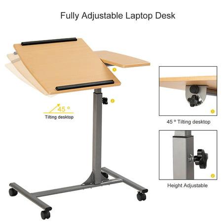 Costway Table Pour Ordinateur Portable Table De Lit Pour