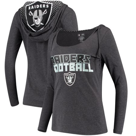 Oakland Raiders Concepts Sport Women s Viewpoint Tri-Blend Hooded Long  Sleeve T-Shirt - Charcoal - Walmart.com e35f29800