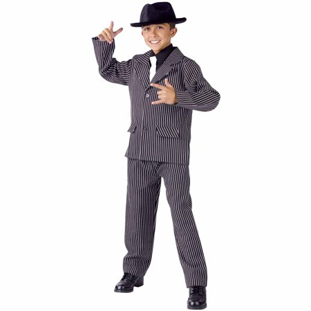 Gangster Male Child Halloween Costume - 20s Gangster Halloween Costume