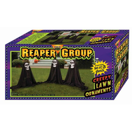 Grim Reaper Group Outdoor Halloween Prop Decoration Set of - Outdoor Halloween Decorations