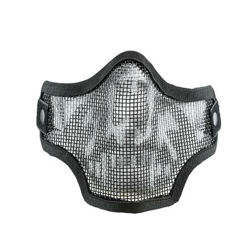 Valken 2G Wire Mesh Tactical Airsoft Half Lower Face Mask Black Skull by
