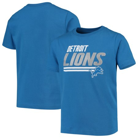 Youth Blue Detroit Lions Lined T-Shirt Detroit Lions Youth Uniform