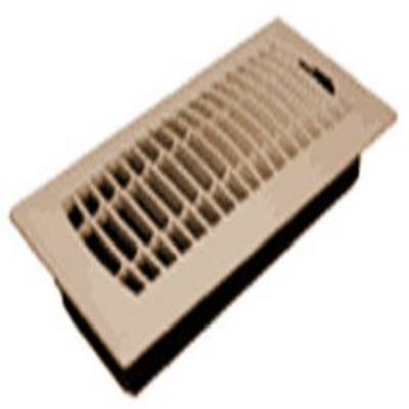 4 x 10-Inch Plastic Almond Contemporary Floor Register