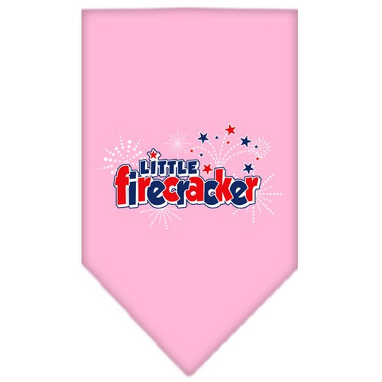Image of Mirage 66-47 SMLPK Little Firecracker Pet Bandana Light Pink Small