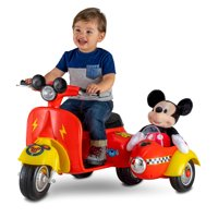 6-Volt Mickey Mouse Scooter with Sidecar Ride-On Deals