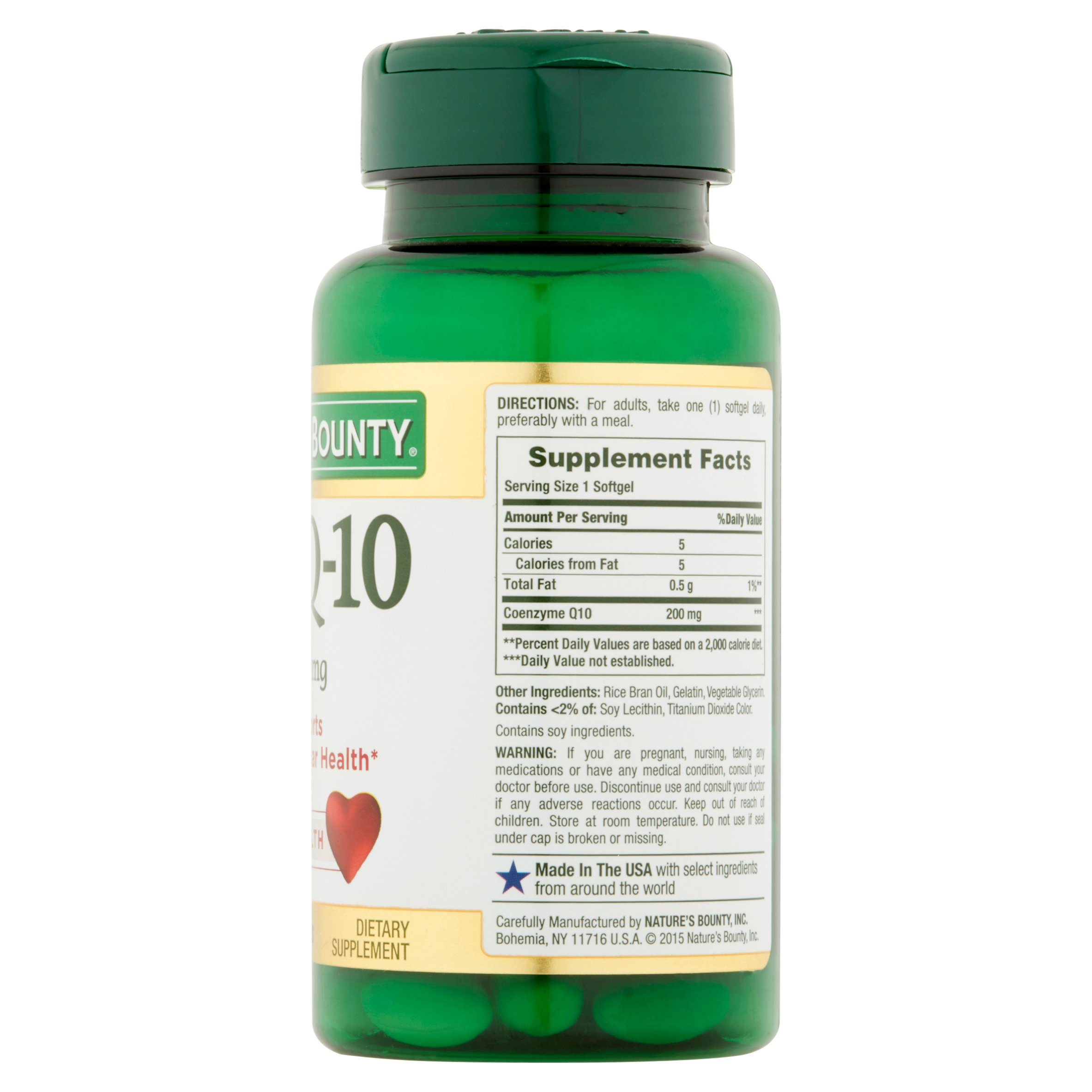 Nature S Bounty Co Q 10 Rapid Release 200mg Softgels 45 Count