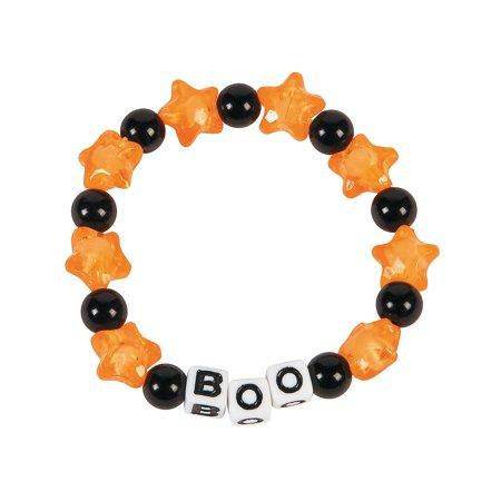 Fun Halloween Crafts For Kids (Fun Express - Boo Beaded Bracelet ck for Halloween - Craft Kits - Kids Jewelry Craft Kits - Kids Bracelet - Halloween - 12)