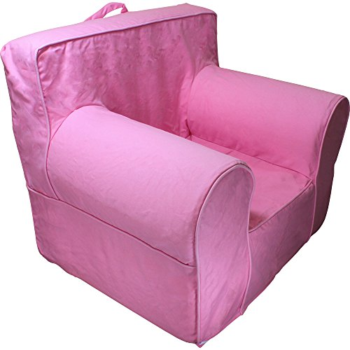 CUB CHAIRS Comfy Small Hot Pink Kid's Chair with Machine Washable Removable Cover