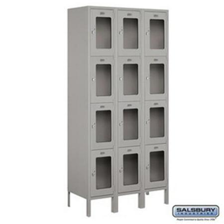 Salsbury Industries 3754P-GLD Replacement Door & Tenant Lock 4C Horizontal Parcel Locker for Standard 4 High Unit - PL4 with 3 keys, Gold