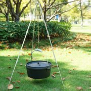 ACCEDE Outdoor Camping Fire Dutch Oven Cooking Tripod Hanging Pot Campfire Picnic Roast Bracket