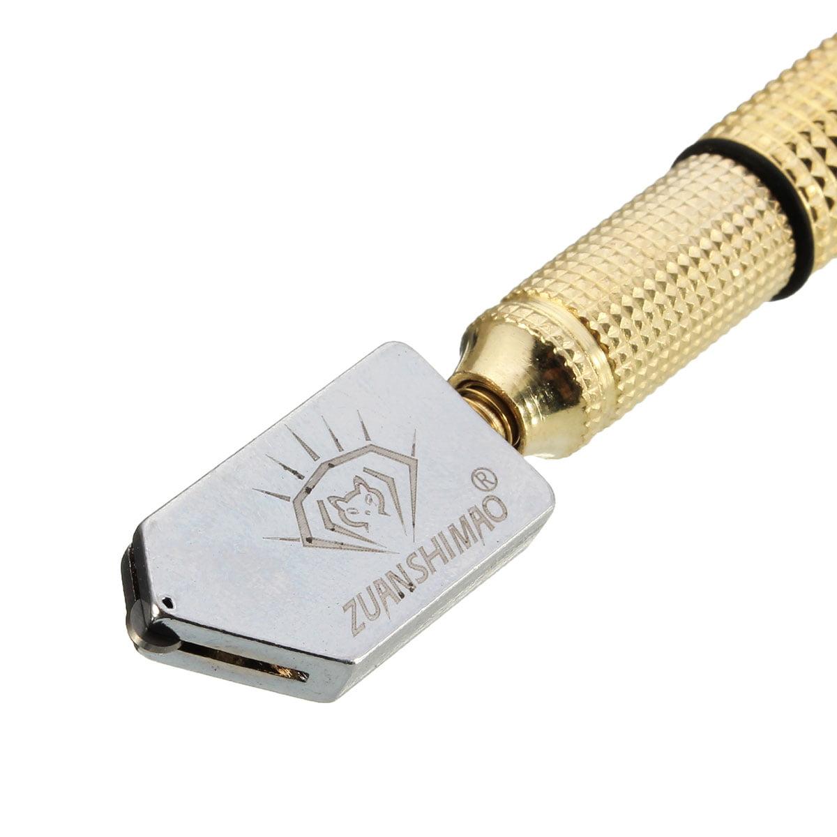 Diamond Tip Antislip Metal Handle Steel Blade Oil Feed Glass Cutter Cutting