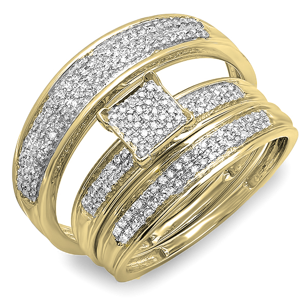 Dazzling Rock 0.50 Carat (ctw) 18K Yellow Gold Round Diam...