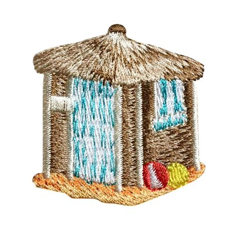 Tiki Hut - Beach Balls - Surf/Tropical - Iron On Applique/Embroidered Patch](Diy Tiki Hut)