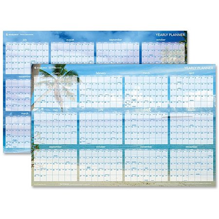 At-A-Glance Tropical Escape 2-Sided Wall Planner Linear Wall Planner